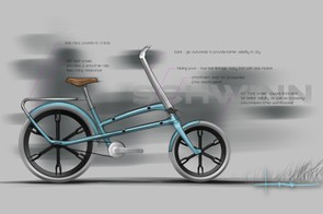 Engineers and designers at Schwinn started with a sketch like this before embarking on actually building a prototype