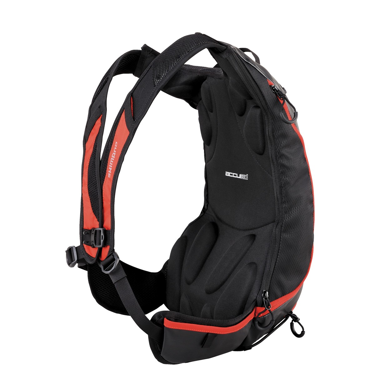 The Unzen hydration pack features unisex, meet-in-the-middle straps that adjust for width at the shoulders as well as height