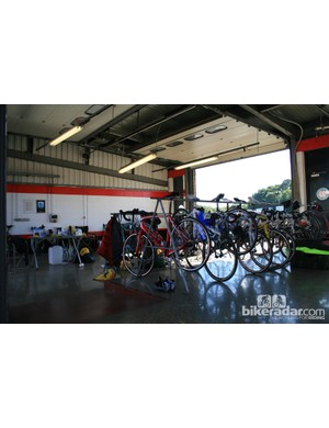 All teams at Cyclothon were given half an (empty) garage for the day. All kit and tools had to be brought by the riders