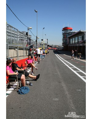 Forget the garage – on a day like we had, the pit lane was the place to be