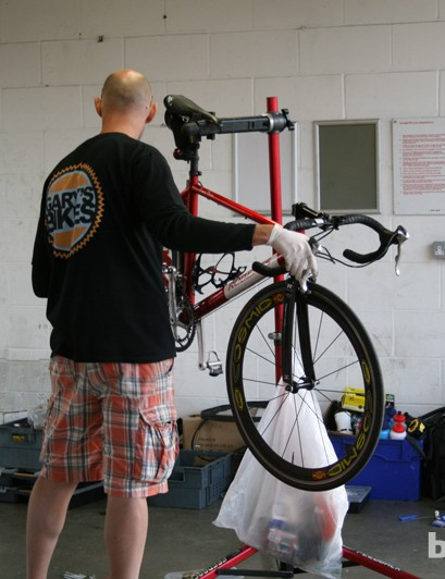 Servicing 300 riders kept the resident mechanic busy