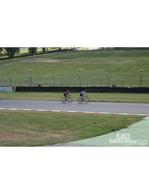 The one frustration from the day: guys on time trial bikes drafting behind us