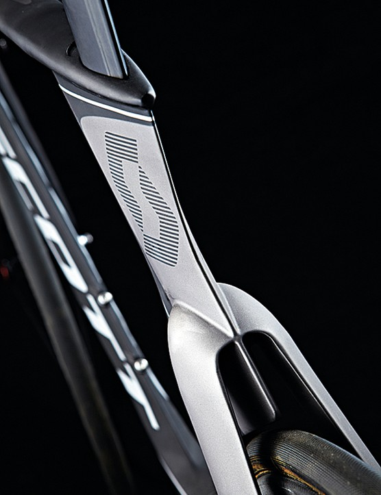 The radical tube shapes on the Scott Plasma make concessions to ride quality as well as aerodynamics