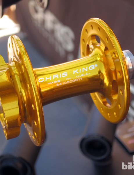 Chris King builds the new ISO R45 disc-compatible road hubs with larger-diameter flanges to handle braking torque. The company says two- or three-cross lacing is required