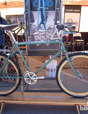 Chris King built this Cielo frame way back in 1978. Interesting factoid: the head tube angle measures 68 degrees, a figure that is now considered progressive for a cross-country machine