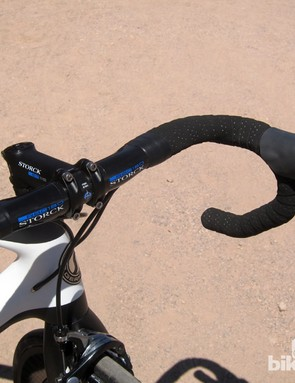 New from Storck are the new RBC180 carbon fiber drop bars with a claimed weight of just 180g