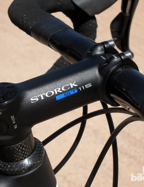 Claimed weight on Storck's new ST115 forged aluminum stem is just 115g