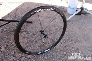 The TdF4SL is a $2,199 carbon tubular wheelset