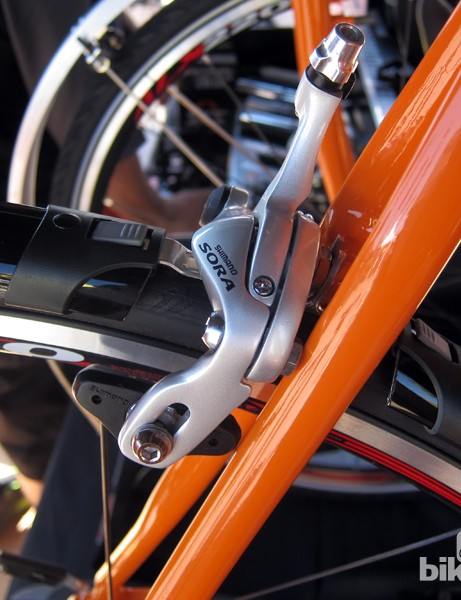 The SKS RaceBlade Long uses small brackets that stay on the bike, but the main sections of the fender are easily removed
