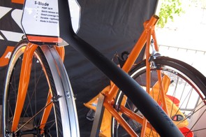 The new SKS S-Blade is a simple seatpost-mounted fender with extra length for better coverage