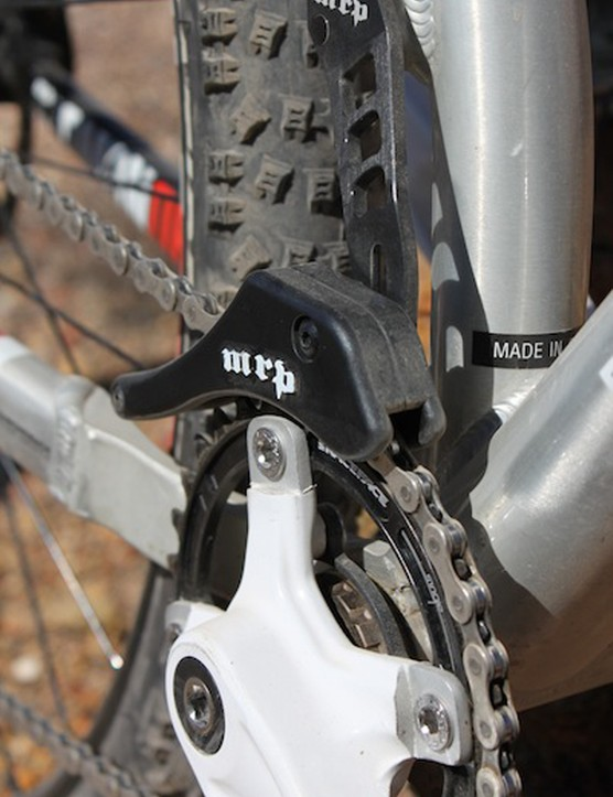 The Mason has a single, 32-tooth chainring and uses a direct mount version of MRP's 1x guide for chain retention