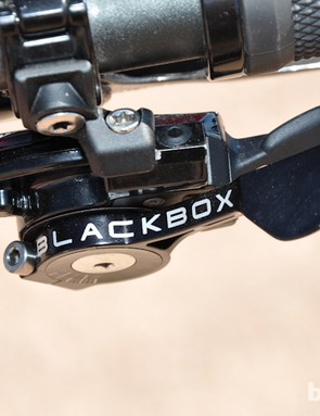 A SRAM BlackBox shifter with concave shifter paddles - versus the stock convex ones - was spotted on Smith's Wilson
