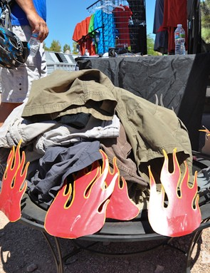 Luckily, most riders showed a little modesty while swapping out their old shorts for a discounted pair of new Zoics