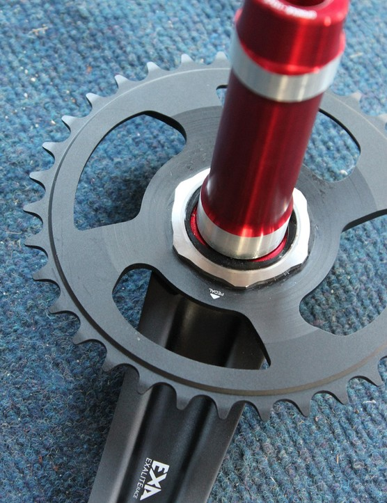 Single and double chainrings mount directly to the crank arm via the same interface used for the company's bottom brackets