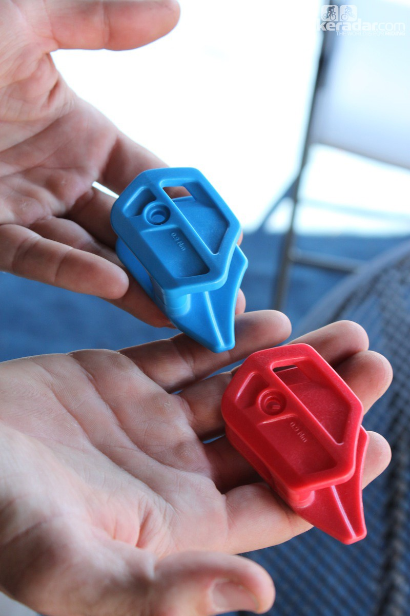 Plastic guide bits will be offered in a number of color options