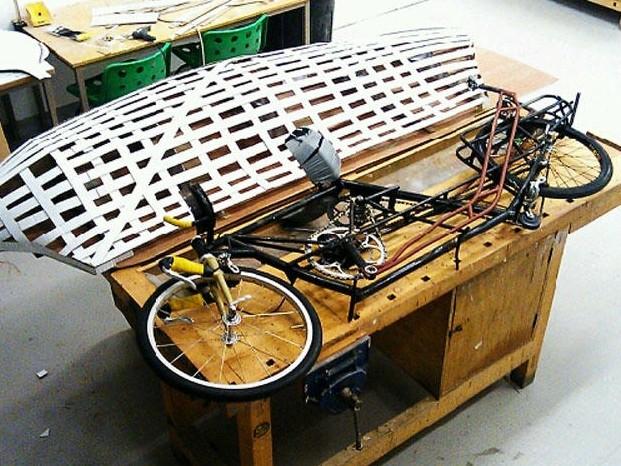 Obree continues to fine-tune his bike ahead of the record attempt