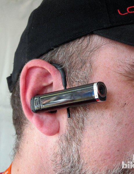 Among the Looxcie 2's mounting options is an earloop for true real-time, POV streaming on demand