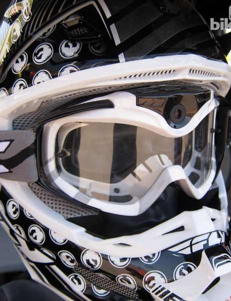 One of Liquid Image's newest items is a set of downhill goggles with a camera built into the frame