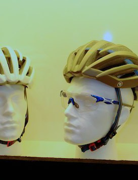 Different colourways on the new pre-production road helmet range