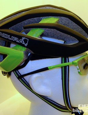 Profile view of the Endura road helmet