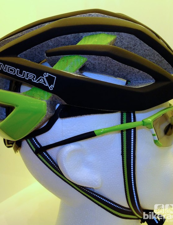 Profile view of the Endura road helmet