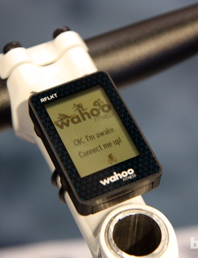 The new Wahoo Fitness RFLKT relies on an iPhone app for the heavy computational lifting but shifts the information display to a compact remote unit.