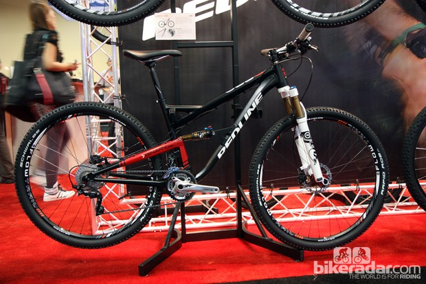 Redline showed off its first dual-suspension mountain bike, the D880, at this year's Interbike show