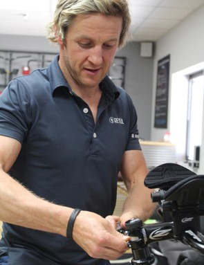 The single most important factor of aero bars is the fit. Retül's Ivan O'Gorman dialed in the Zipps for BikeRadar