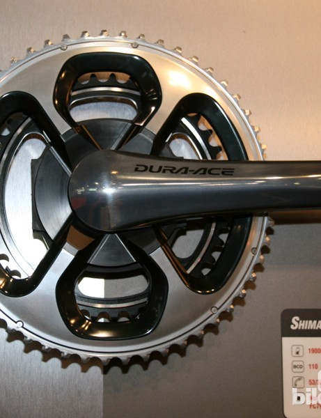 SRM's 2013 road offerings are highlighted by this Shimano Dura-Ace crankset that will take Dura-Ace 9000 11 speed chainrings