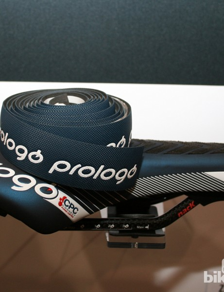 Prologo's One Touch Gel bar tape and Zero TT saddle incorporate CPC (Connect Power Control)