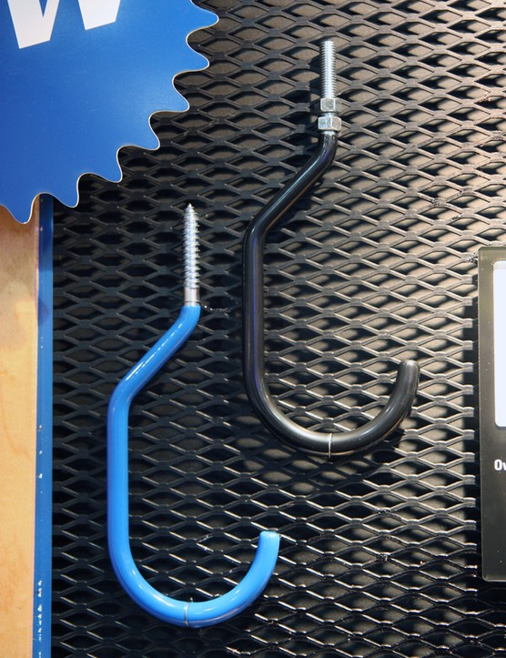 Park Tool also offers standard-sized and oversized bicycle storage hooks