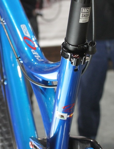 The dropper post line runs along the top tube; there are currently no plans to offer a internally-routed option.