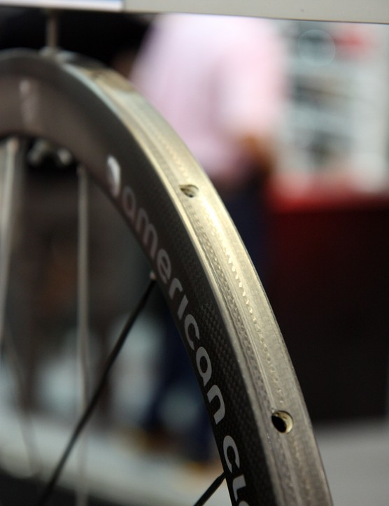 The 23mm-wide rim on American Classic's new Carbon 44 tubular offers plenty of surface area for gluing tires