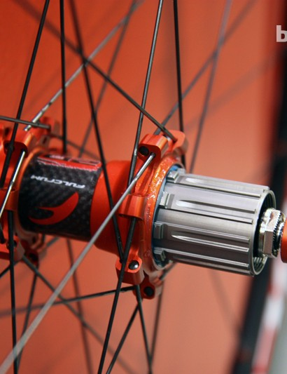 The Fulcrum Red Metal 29 XRP wheels are built with a convertible hub up front (9mm quick-release or 15mm through-axle) but the rear is 135x10mm quick-release only - at least for now