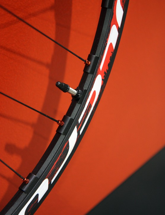 The Fulcrum Red Metal 29 XRP's aluminum rims are elaborately machined