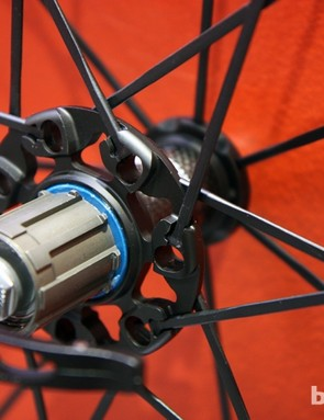The Fulcrum Racing Zero gets a more liberally machined driveside hub flange for 2013