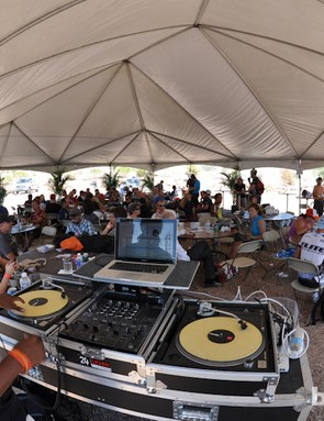 Live DJ sets at the food tent at Outdoor Demo