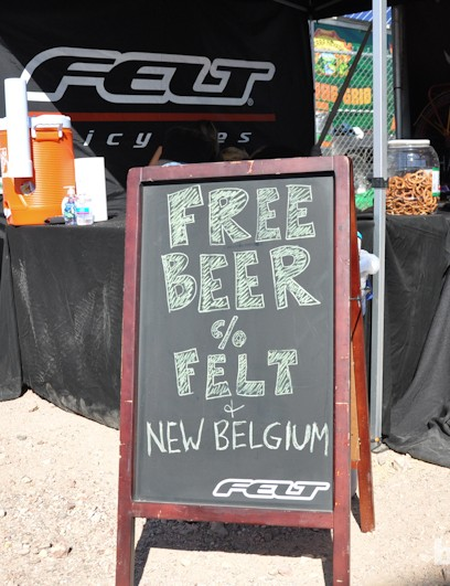 Bikes and beer seem to be peas and carrots at Interbike