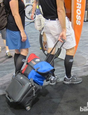 Sometimes the cycling crowd isn't the most stylish crowd. But, maybe these two found the secret to not feeling completely blown out after 8 hours of walking around Interbike each day