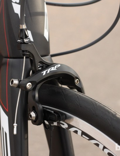 TRP's 970SL brakes were slightly less powerful than Shimano's Dura-Ace 9000 models