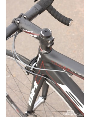The Ultralight's fork is light but stiff enough for precision steering
