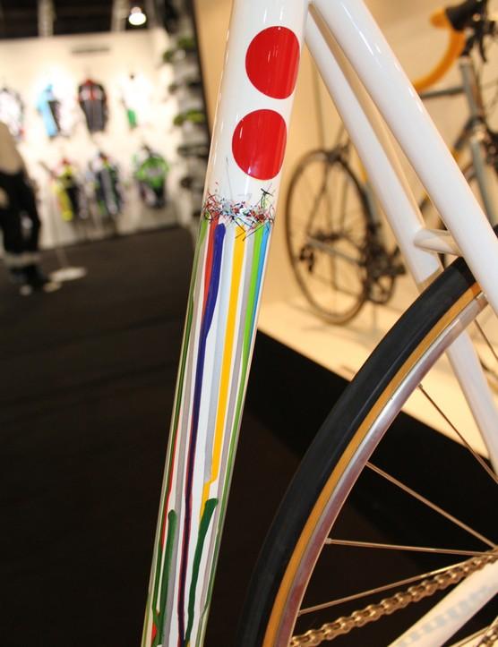 Dario Pegoretti's paint job on the Moncelo track bike is perfect