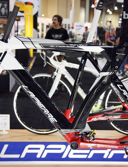 Lapierre's striking Aerostorm time trial/triathlon frameset was a joint collaboration with sister company Koga