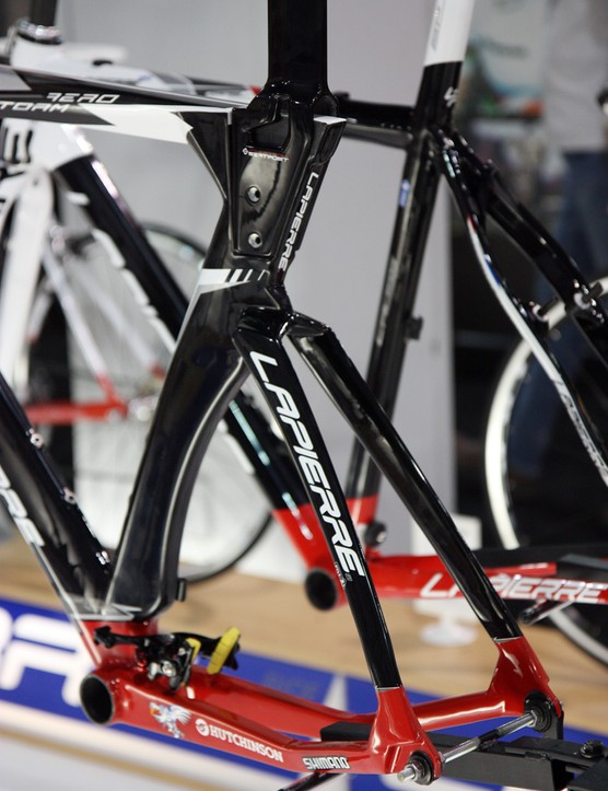 The Lapierre Aerostorm's unusual bolt-on seatmast can be both adjusted and replaced to tweak the fit