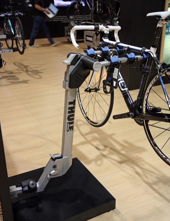 Thule's new Helium Aero hitch rack features an ultralight 8.9kg (19.62lb) claimed total weight and a somewhat aero-profile upright