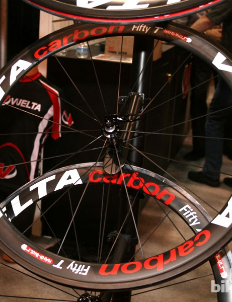 Vuelta 50 T carbon tubular wheels, retailing for $1325 a set