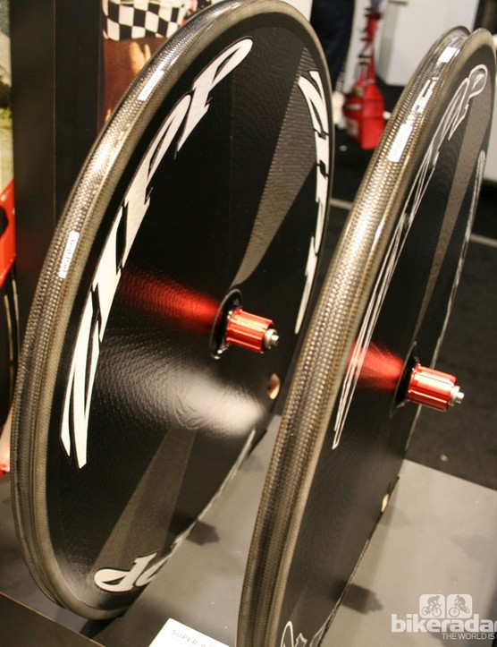 Zipp's sub 9 disk wheels, fat and fast