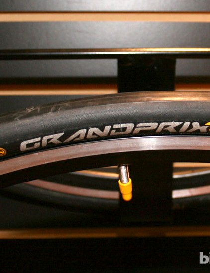 Continental's Grand Prix TT clinchers, good enough for Tony Martin to win the Worlds in 2011 and one of our favourite clincher tyres at the moment