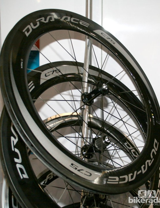 Shimano Dura Ace c75 wheels - 11 speed compatible with a 24mm wide rim base