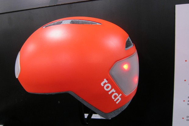 Torch's T1 helmet features integrated LED blinking lights to keep cyclists safe on evening commutes